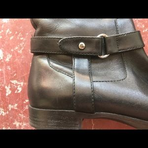 Ralph Lauren black leather Saniya tall boot Sz 7